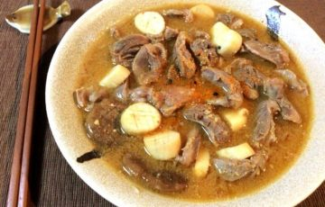 濃縮のおでんの旨さ。和からし醤油の砂肝エリンギ煮込み(糖質7.3g)
