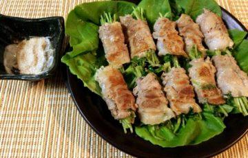 食欲剥きだし。香り上る豚バラチーズ豆苗の大蒜クミン塩(糖質1.7g)