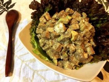 黒胡麻マスタードの厚揚げアボカドサラダ(糖質2.7g)-2