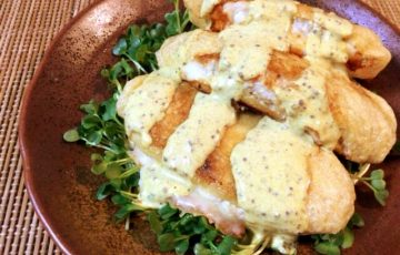 食欲瓦解の旨さ。味噌チーズ鶏サンドのカレーマスタード(糖質6.9g)
