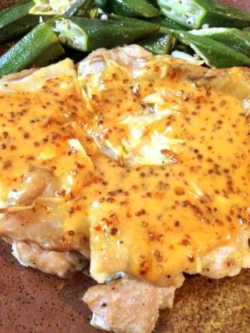 スイチリマスタードのオーブン大蒜鶏(糖質2.9g)