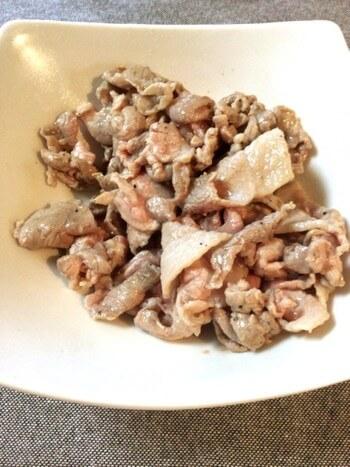 豚コマ茗荷の焦がし醤油生姜焼き(糖質2.4g)