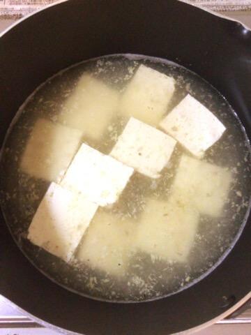 サバ缶豆腐の生姜あんかけ塩麹煮込み(糖質6.8g)