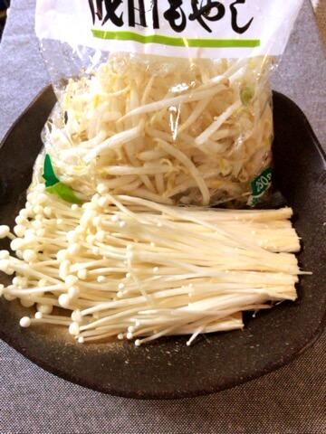 旨さ大量もやしえのきカレー塩麹卵とじ(糖質6.2g)