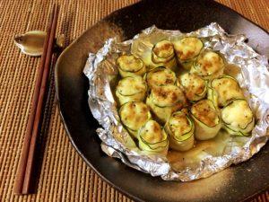 沁みいる柔らかさ。チーズクミンのささみズッキーニ焼売(糖質3.6g)