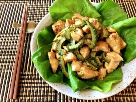 絶品マヨ塩麹のゴーヤぽん酢チキン(糖質4.6g)