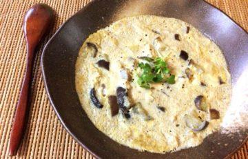 歩み寄る旨み。白だしナスチーズのおぼろコンソメ茶碗蒸し(糖質3.3g)