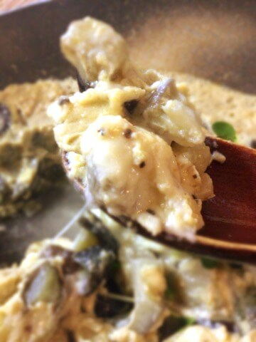 白だしナスチーズのおぼろコンソメ茶碗蒸し(糖質3.3g)