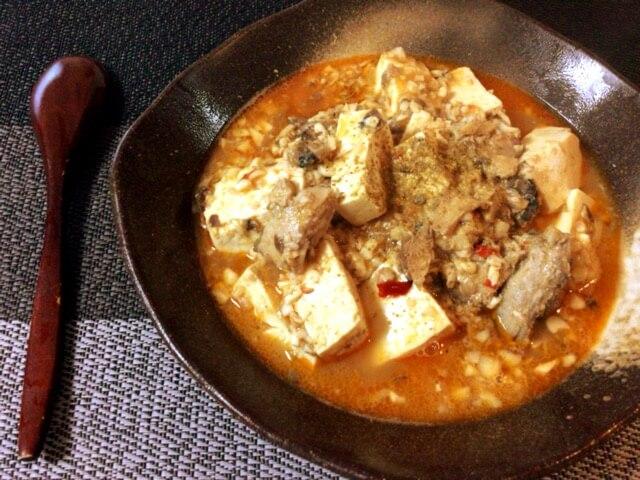 魚の本気。旨さ沁みいる夏のサバ缶味噌バター麻婆豆腐(糖質6.4g)