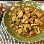 柔らかさA級。蕩けるキノコ鶏の濃厚カレーオイスター煮込み(糖質9.5g)
