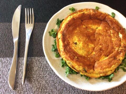 超主食系。絶品サバズッキーニカレーのバターフリッタータ(糖質2.0g)