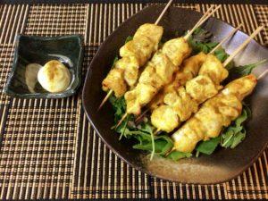 モモ肉失業。絶品塩麹マヨクミンのオーブン鶏胸焼き鳥(糖質6.3g)