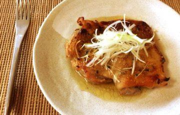旨い肉を喰う。美味なる肉汁の山椒一味塩麹チキンステーキ(糖質6.4g)