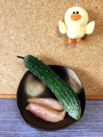 オイスター塩麹のゴーヤささみ青椒肉絲