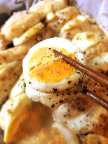 鶏胸卵の柚子胡椒マヨペッパーオーブン