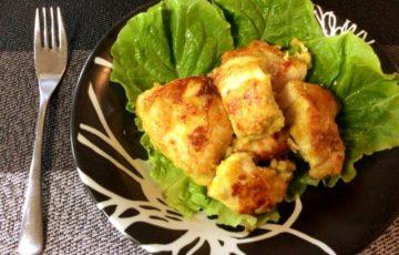 柔肉の塊。鶏むねカレーチーズのKFC風チキンステーキ(糖質9.3g)