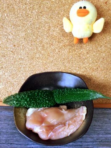 胡麻マヨ味噌一味のゴーヤチキン団子