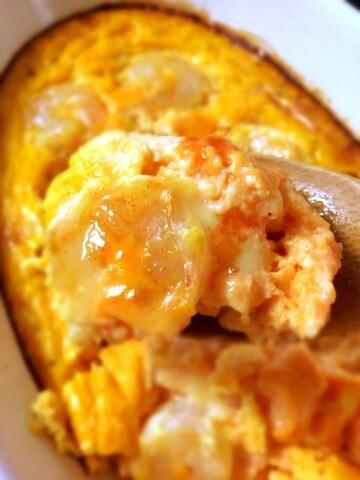 キャロットチーズのヨーグルト海老キッシュ