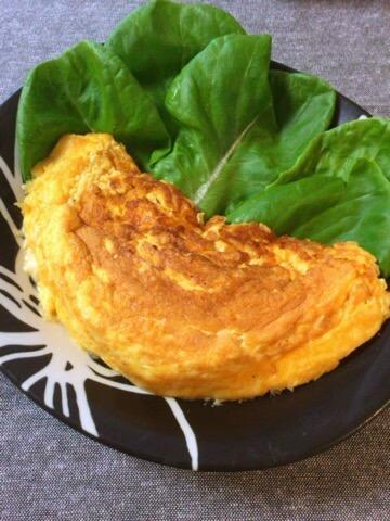 ふわり豆腐オムレツのカレー明太チーズ