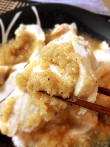 激柔らか茹で鶏の蜂蜜おろし文昌鶏