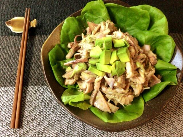 超デパチカ。イカアボカドの絶品茗荷クミンマスタードサラダ(糖質5.4g)