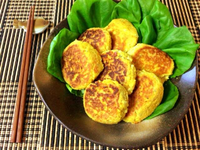 花よりお豆腐。海鮮厚揚げのカレーチーズお月見お焼き(糖質5.3g)