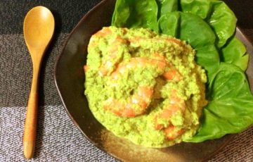 絡む濃厚さ。海老ブロッコリーのマヨカレーカマンベール(糖質3.5g)