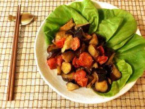 野菜の王国。茄子トマトの甘旨蜂蜜バルサミコ常備菜(糖質9.6g)