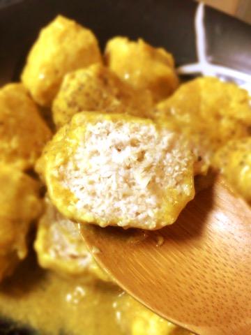 ささみ生姜の濃厚味噌カレー豆乳団子