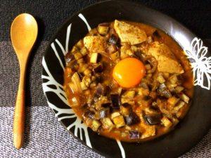 米なしでも◎。コク旨茄子味噌カレーの煮込みスンドゥブ(糖質8.4g)