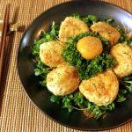 繋ぎ0。黄身で笑顔の絶品照り焼き山椒チーズ鶏つくね(糖質7.0g)
