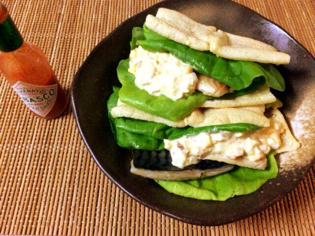 至福のサバ旨さ。サクサク揚げ梅タルタル鯖サンド(糖質2.6g)