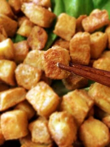 おつまみ王者ガーリッククミン豆腐クリスピー