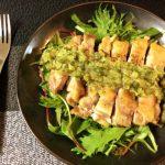 肉&旨刺激。柚子胡椒ネギ塩の柔らかチキンステーキ(糖質3.5g)