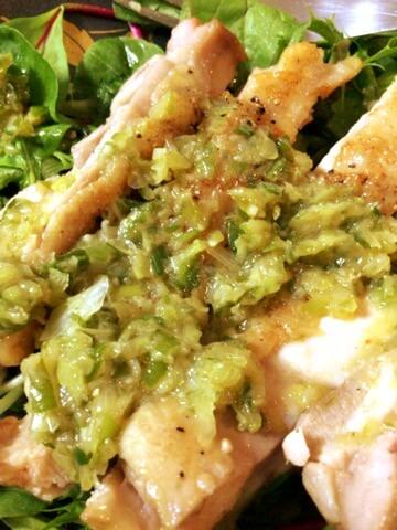 葱柚子胡椒の柔らかオーブンチキンステーキ