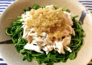 8分で美味。朝食に最適しっとり蒸し鶏アジアンソース(糖質5.9g)