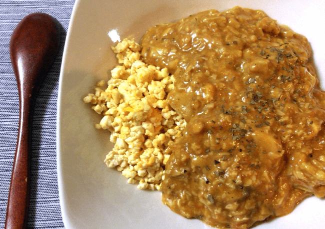 素晴らしき満足感。濃厚美味バターチキンカレーとソイエッグ(糖質14.9g)