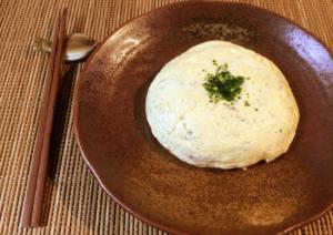 ALL90秒。レンチン3発白だし豆腐のチーズ出し巻き卵。(糖質3.6g)