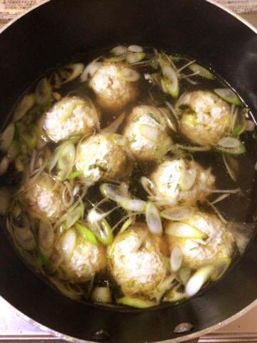 ネギ海苔柔らか鶏団子中華スープ