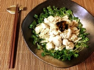 海苔の佃煮マヨ辛子の茗荷ササミ和え