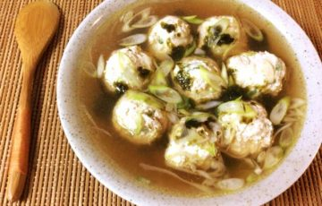 満ち足りる柔さ。ネギ海苔柔らか鶏団子中華スープ(糖質8.8g)