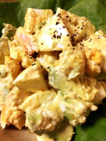 海老卵アボカドの絶品カレークミンヨーグルト