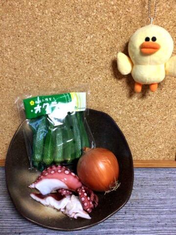 柔らかタコおくらの梅ポン柚子胡椒