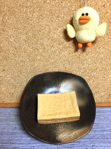 バター大蒜のり塩のサクサク厚揚げフライ