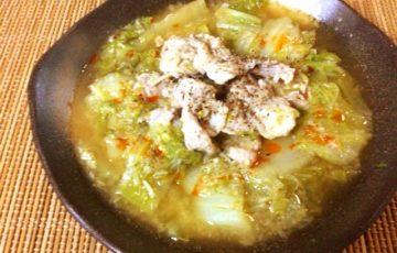 白菜激ウマ。鶏ガラえのきネギ塩の絶品トロトロ鍋(糖質9.9g)