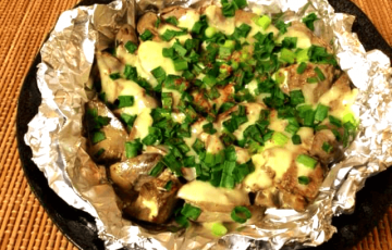 ふっくら激やわ。葱ぽんマヨ生姜の濃厚レバーチーズ焼き(糖質3.3g)