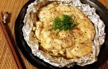 いざオーブン放置。黒胡椒ソースの甘ピリマヨ蜂蜜チキン(糖質8.6g)