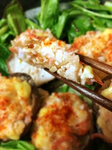海老紅しょうがの一味チーズオーブン焼き