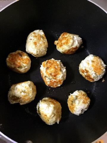 とろろチーズのマヨ柚子胡椒チキンボール