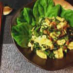 追撃のコク旨。カレーマヨクリチの春菊チキンサラダ(糖質2.3g)